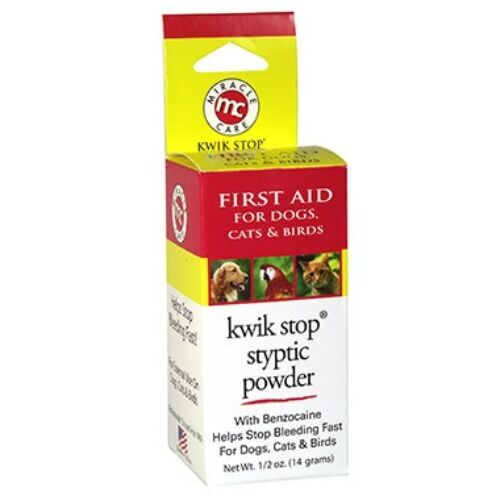 Kwik Stop Styptic Powder Benzocaine Bleed Stop 14 Gram