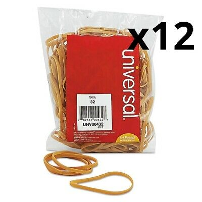 Rubber Bands Size 32 0.04 Gauge Beige 4 Oz Box 205pack Pack Of 12