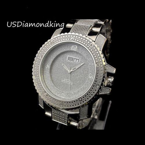 Hip hop diamond mens watch ebay for Rapper watches