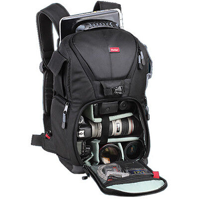 Travel Camera Backpack Bag Case For Canon Nikon Sony Pentax Olympus DSLR Camera