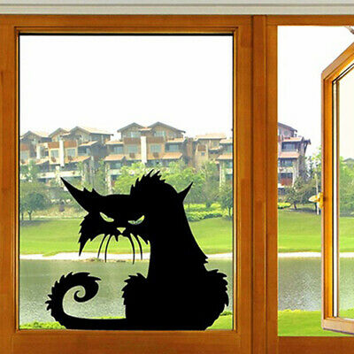 1PC Black Cat Wall Sticker 3D Halloween Style Decal Removable Mural Home Decor