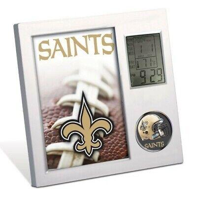 NEW ORLEANS SAINTS ~ (1) Official NFL Team Desk Alarm Clock ~ New!