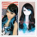 Long Blue Cosplay Wig