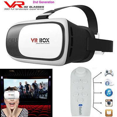 Neu Google Cardboard 2nd Gen VR BOX Virtual Reality 3D Glasses Bluetooth Control