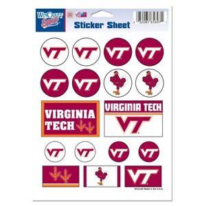 Virginia Tech Hokies Vinyl Die-Cut Sticker Set / Decal Sheet *Free Shipping