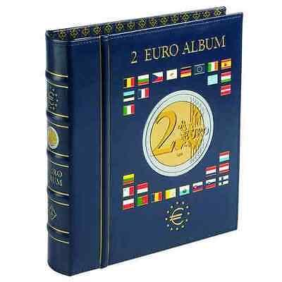 Leuchtturm 2 EURO VISTA Münzalbum inkl. 4 Münzblätter und Kassette (341017)
