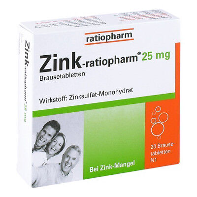 ZINK RATIOPHARM 25 mg Brausetabletten 20St 00813252