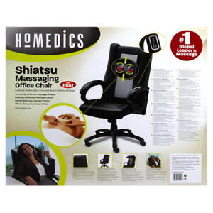 Homedics Shiatsu Massaging Office Chair with Heat (Black)