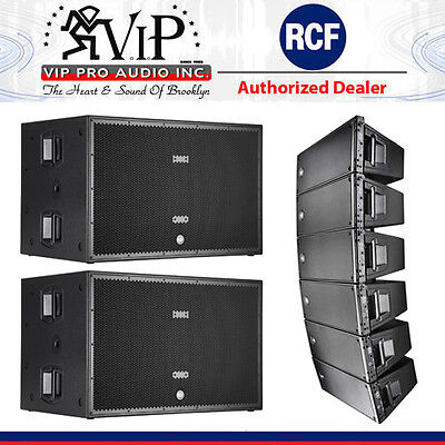 6x RCF HDL 20-A Active Line Array 1400W + 2-SUB 8006-AS Dual 18