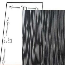 1M WIDE BLACK STRING pvc shower wall panels 10mm thick 2400 long