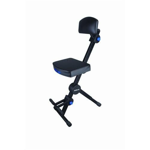 Guitar Playing Seat with Back Rest Musicians Chair Stool Live Performance Stage