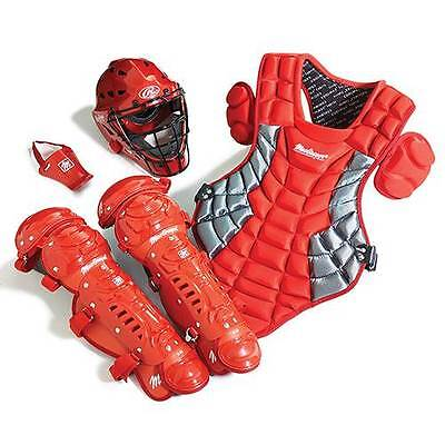 Junior Catcher's Gear Pack - SCARLET - Ages 5-8