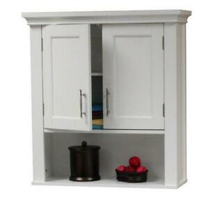 White Bathroom Wall Cabinets bathroom cabinet: home & garden | ebay