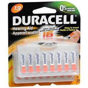 128-DURACELL-HEARING-AID-SIZE-13-BATTERY-ZINC-AIR-DA13-13HPX-AC13E-AC13-13A-13AE