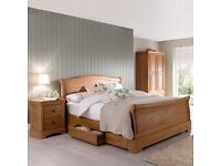 Solid Oak Super Kingsize Sleigh Bed NEW