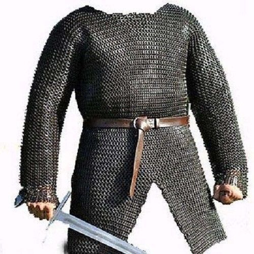 Flat Riveted With Flat Warser Chainmail shirt 9 mm Medium Medieval Armour Shirt