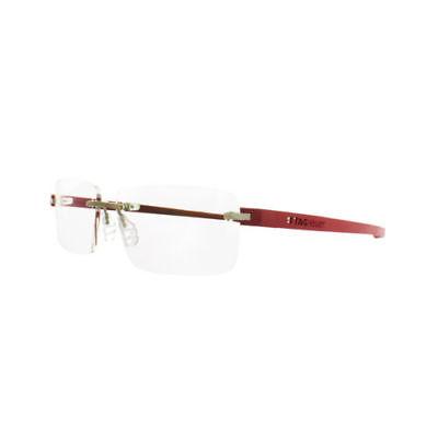Tag Heuer TH3941 012 Reflex 3 Rimless Titanium Optical Glasses  Cardinal Red