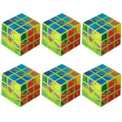 DINOSAUR Prehistoric Party PUZZLE CUBES (6) ~ Birthday Supplies Favors Toys - Prehistoric Party Supplies