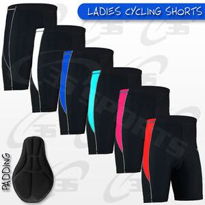 Ladies-Cycling-Shorts-Coolmax-Padded-MTB-Cycle-Bike-Anti-Bac-Padding-S-M-L-XL