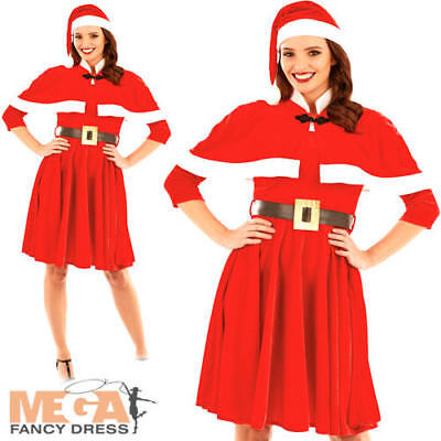 Lady Santa Claus Ladies Fancy Dress Christmas Xmas - Lady Santa Outfit