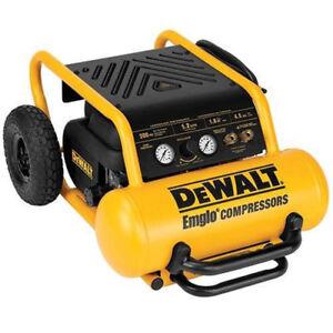 DEWALT 4.5 Gallon Wheeled Portable Air Compressor D55146 Reconditioned
