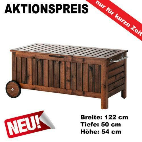 gartentruhe holz auflagenboxen ebay. Black Bedroom Furniture Sets. Home Design Ideas