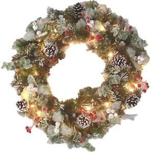 outdoor lighted christmas wreath. Black Bedroom Furniture Sets. Home Design Ideas