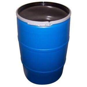 Open top 55 Gallon rain barrels