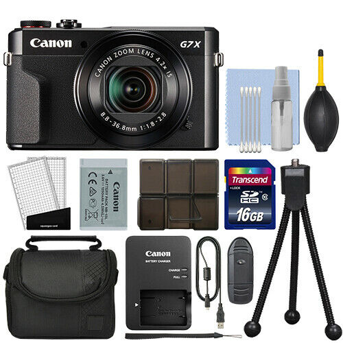 Canon PowerShot G7x Mark II 20.1MP Digital Camera 4.2x Optical Zoom + 16GB Kit