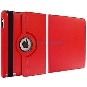 NEW RED 360 ROTATING PU LEATHER CASE COVER STAND FOR IPAD AIR Regina Regina Area image 6