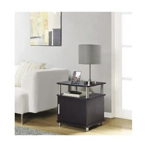Contemporary End Table Modern Living Room Accent Storage Cabinet Sofa Side St
