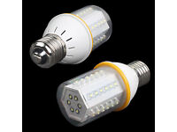 2X LED E27 Bulbs 12Volt for car,caravan,solar panel, boat house etc.