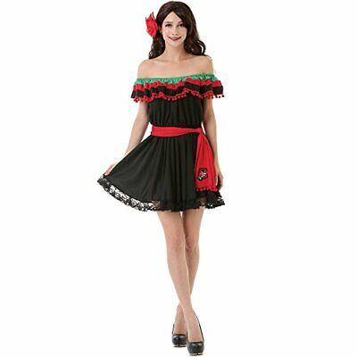 Fiesta Costume (Spicy Senorita Women's Halloween Costume Mexican Fiesta Flamenco Dancer)