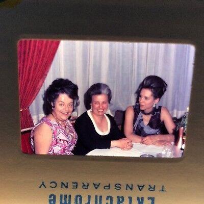 1970's Ektachrome Amateur 35mm Slide Lot 34 Dinner Party Banquet Fashion Design