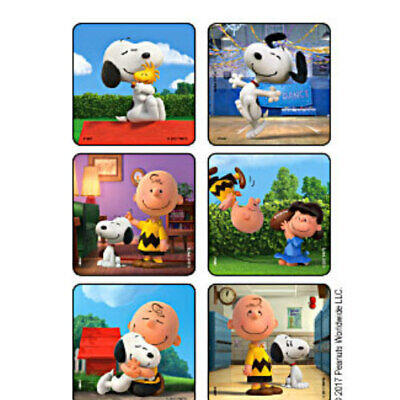 25 Peanuts Scenes STICKERS Party Favors for Birthday Treat Loot Bags - Snoopy Party Favors
