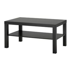 IKEA LACK Coffee table, black-brown