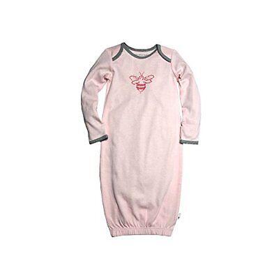Burt's Bees Baby Girl Gown/Sleepsack ~ Pink & Gray ~ 0-9 Mon