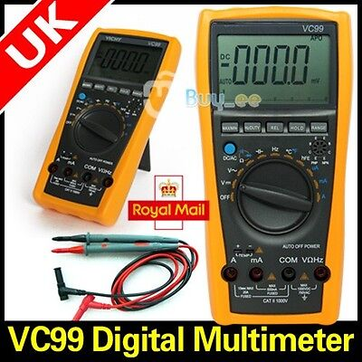 VC99+ 6999 auto range multimeter tester Amp C Tcompared analog bar UK ship