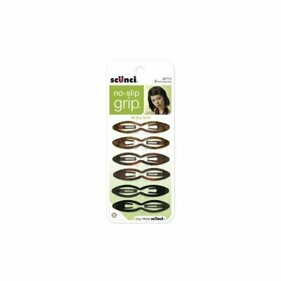 Scunci No-slip Grip Fine Hair Double Oval Snap Clips, Colors