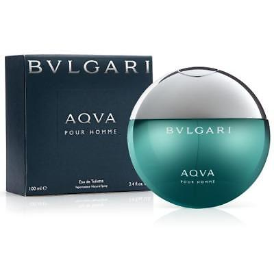 Bvlgari Aqva Cologne Pour Homme by Bvlgari 3.4 oz EDT Spray for Men (Aqua) NEW