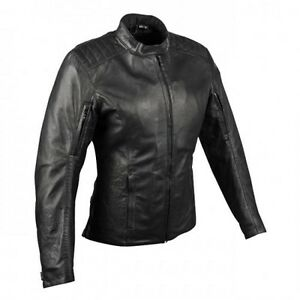 Ladies leather motorcycle jacket / L (new/never worn) - 250$ obo