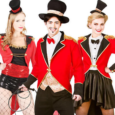 Circus Lion Tamer Ringmaster Adult Fancy Dress Mens Ladies Womens Costume Outfit