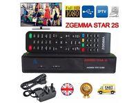 ORIGINAL + 2017 ZGEMMA STAR 2S DVB-S2 TWIN TUNER SATELLITE RECEIVER ENIGMA2+ 12 MONTHS GIFT