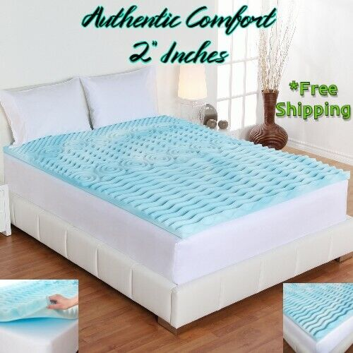2 Inch Orthopedic Foam Cooling Mattress Topper Queen King Fu