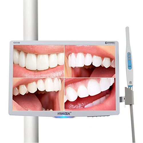 Dental Intraoral Camera 1/4 CMOS 6 LED light oral camera with 18.5 inch Monitor