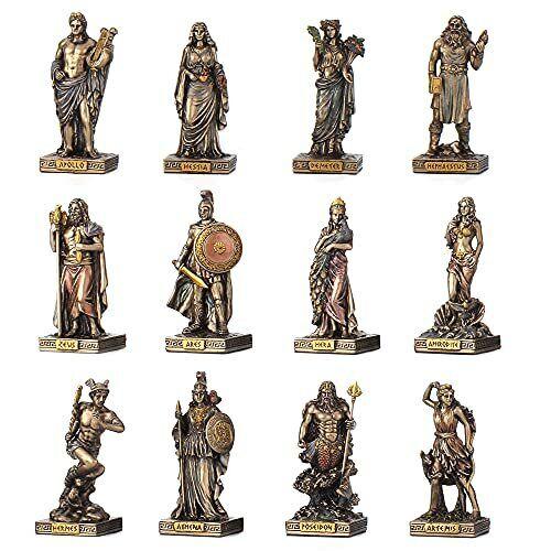 Greek Pantheon 12 Olympians Greek Gods Statue Zeus Apollo Ares
