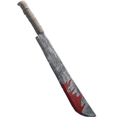 Halloween Fancy Dress Large Fake Machete Chopper 74cm Jason by Smiffys New