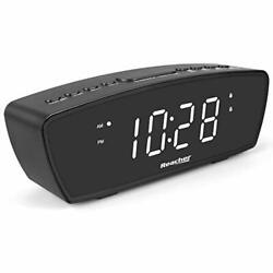 Led Digital Alarm Clock Blue White Small Nightstand Loud Bright Student Gift NEW