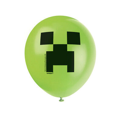 MINECRAFT LATEX BALLOONS (8) ~ Birthday Party Supplies Helium Decorations Green](Green Helium Balloons)