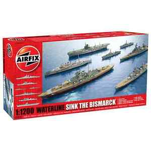 Airfix 1:1200 Sink The Bismarck! Waterline Ships Set Model Kit Set (A50120)